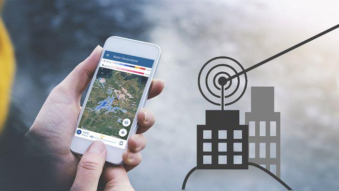 Unserer wetter.com App und unsere Webseite enthalten einen umfangreichen Niederschlagsradar.