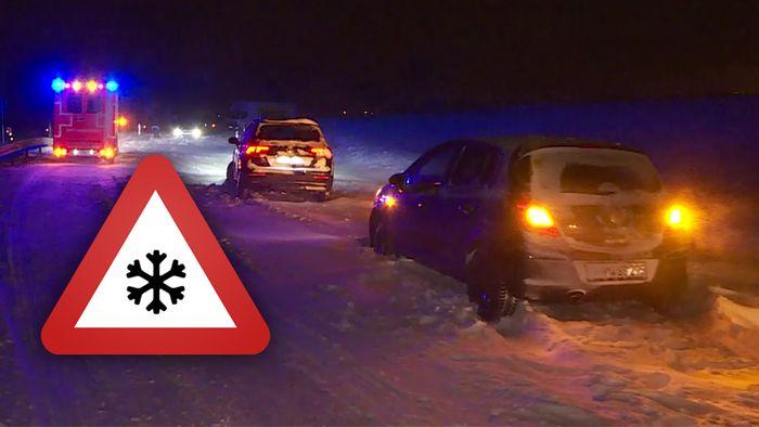 Das angekündigte Schneechaos hat  in mehreren Regionen zugeschlagen.