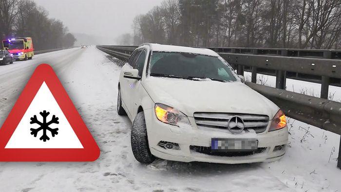 Am Sonntag gab es Winter- und Schneechaos in der Nordhälfte Deutschlands.