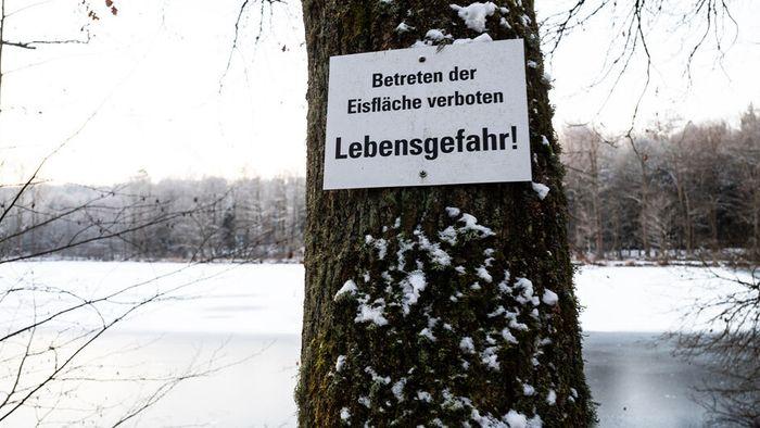 Trotz Frost: Eisflächen nicht betreten!