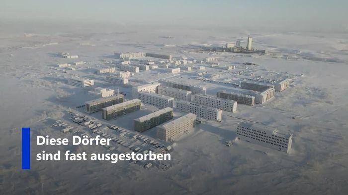 Bewohner geflohen: Drohnenvideo zeigt eingefrorene Geistersiedlungen