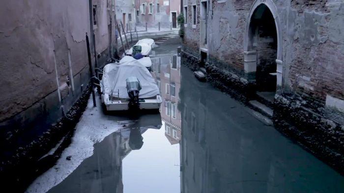 Seltene Bilder: Kanäle in Venedig komplett ausgetrocknet