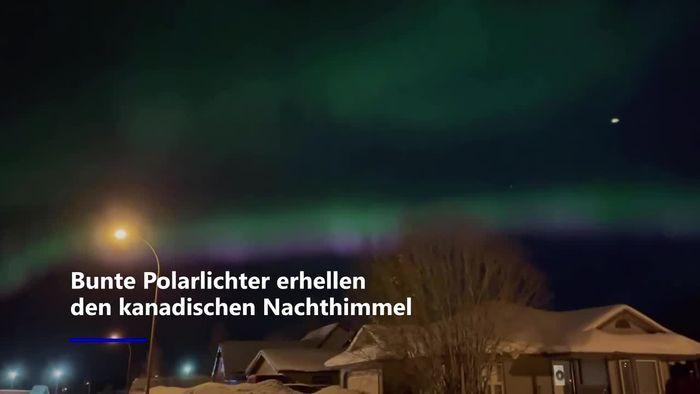 Beeindruckendes Naturschauspiel: Polarlichter begeistern Kanadier