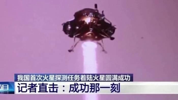 Der chinesischen Raumfahrt ist erstmals die Landung auf dem Mars gelungen.
