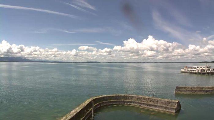 HD Live Webcam Chieming am Chiemsee - Schiffsanlegestelle
