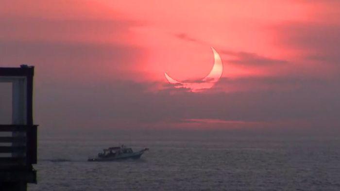 Himmelsspektakel: So sah die Sonnenfinsternis aus