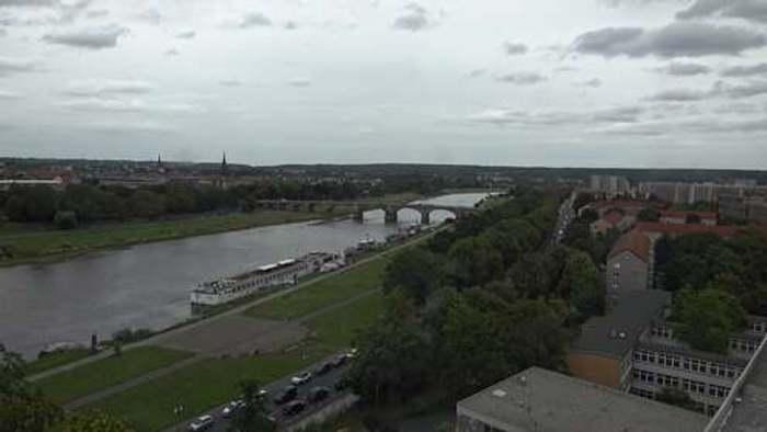 HD Live Webcam Dresden - Brühlsche Terrasse am Elbufer