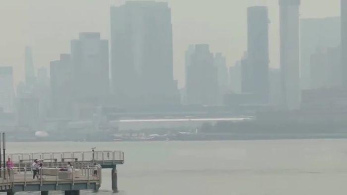 Waldbrände im Westen Nordamerikas: Rauchschwaden bis an die Ostküste