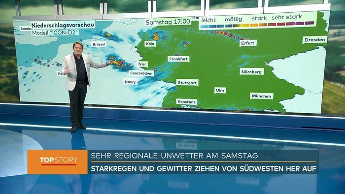 Am Wochenende wird erneut Starkregen erwartet.