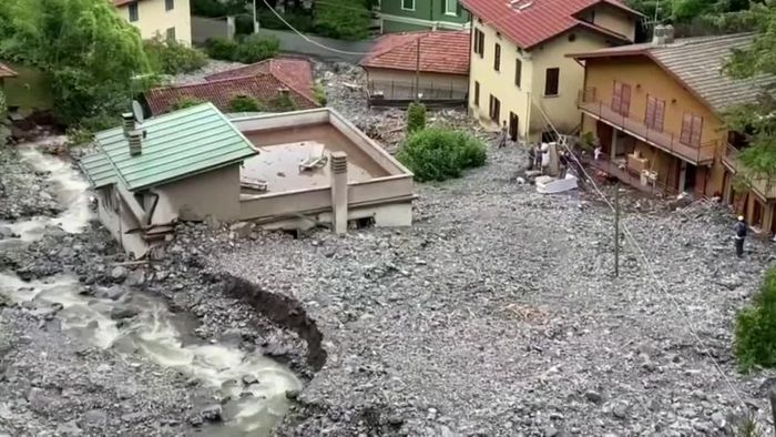 Nach Unwetter in Italien: Erdrutsch am Comer See