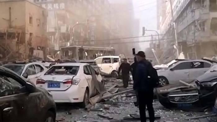 Apokalyptische Bilder! Tote und Verletzte bei Gasexplosion in China