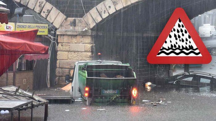 Unwetter treffen Sizilien! Bis zu 500 Liter Regen drohen