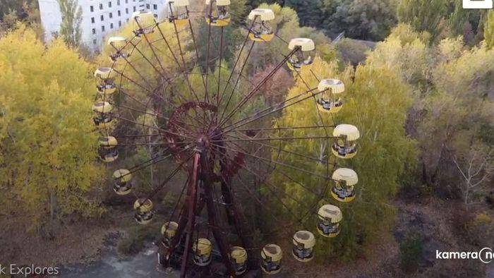 Zeit steht still: Drohnenvideo zeigt verlassene Stadt bei Tschernobyl