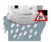 mäßiger od. starker Regen, gefrierend