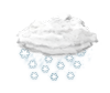 mäßiger Schneefall