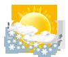mäßiger od. starker Schneeschauer