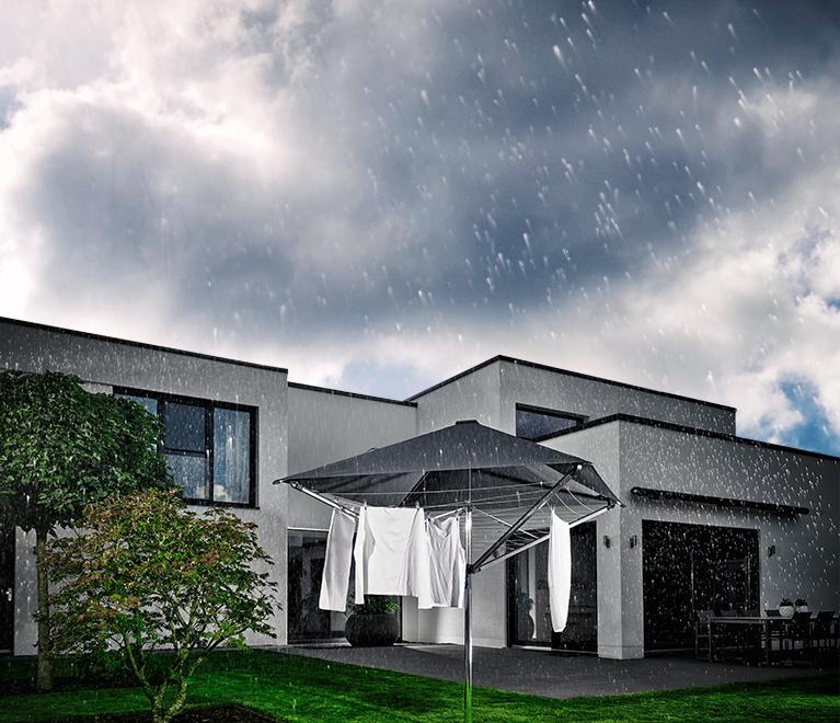 Regnerisch - das Dach schützt vor Regen
